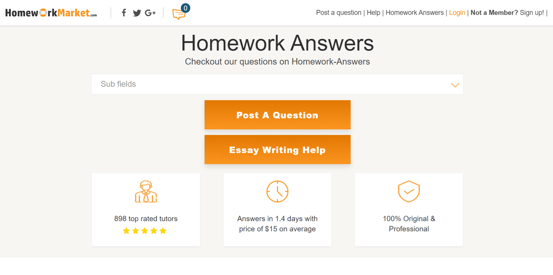Homework Market Review
