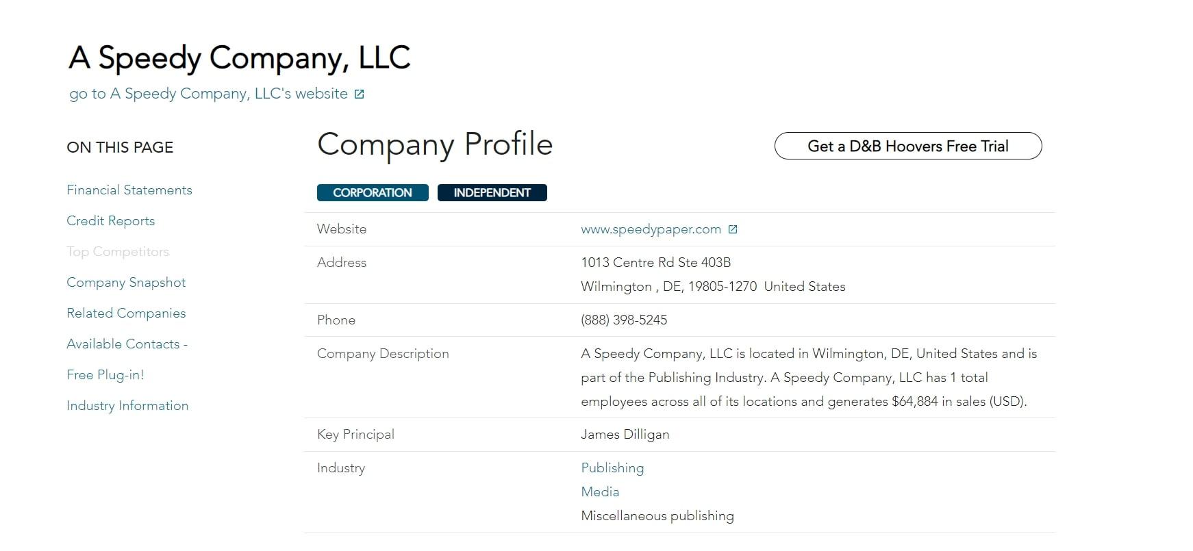 Speedy Company